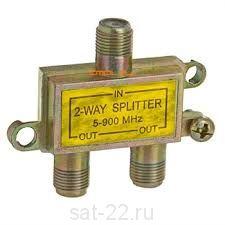 Сплиттер 2-WAY 5-900Мгц жёлтый¶